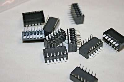 Alco 10 Pack Spst 6-position Piano-style Dip Switch - 100ma24vdc 101-568