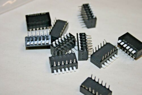 ALCO® 10 PACK SPST 6-Position Piano-Style Dip Switch - 100mA@24VDC (101-568)