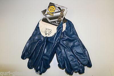 Glashandschuhe Handschuhe Nitril Blau VSG ESG Float Glas ( 1 Paar ) NEU