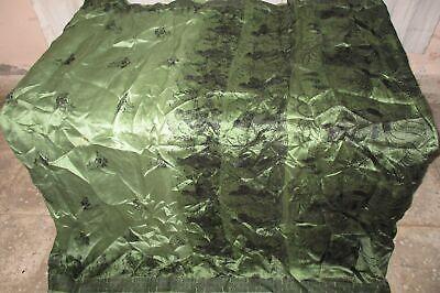 Pure silk Antique Vintage Sari EXOTIC 4Y S19 301 Henna Black UK #ABGOA