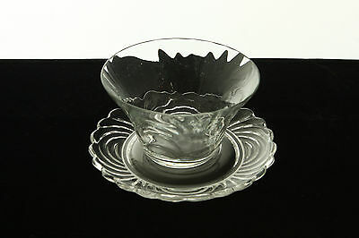 RARE CAMBRIDGE GLASS CAPRICE CRYSTAL # 300 BLOWN FINGER BOWL & UNDERPLATE SET Caprice Crystal