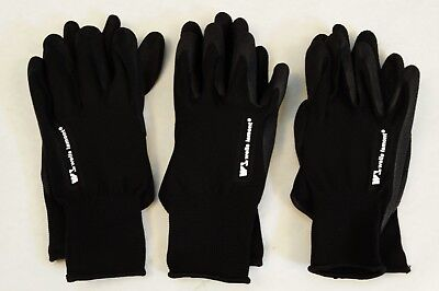 3 Pairs Wells Lamont Mens Foam Latex Work Gloves Size Large
