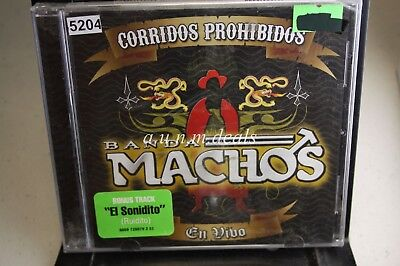 Banda Machos - Corridos Prohibidos En Vivo, 2008 ,Music CD (NEW)