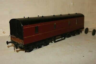 7mm FINESCALE O gauge KITBUILT 50' Utility GUV Parcels Coach LMS Maroon Livery , used for sale  Shipping to Ireland