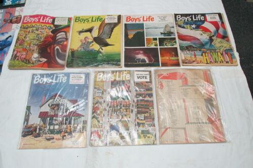 1960 BOYs LIFE Lot 7 Issues 50th BSA Coke Ad! HAWAII Is. Boy Scout Mr-Jn,Au,N-D