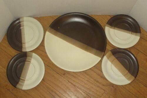McCOY DINNERWARE POTTERY DINNER PLATE & SAUCERS 5 PC