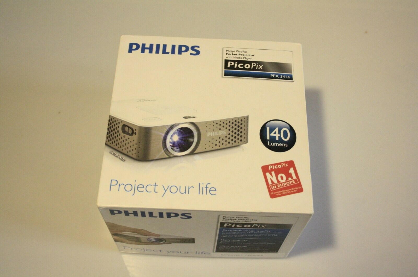 Philips PicoPix PPX 3414 Pocket Projektor Mini-Beamer Superzustand !!