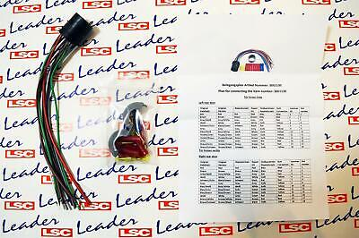 Vauxhall ZAFIRA B REAR DOOR WIRING LOOM REPAIR KIT with INSTRUCTIONS - NEW