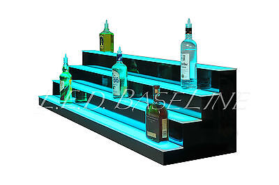 66 Led Bar Shelves Four Steps Lighted Bar Shelf Liquor Bottle Display Rack