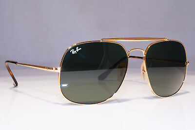 RAY-BAN Mens Sunglasses Gold Square THE GENERAL Immaculate RB 3561 001 23359