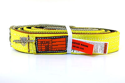 Ee2-902 X8ft Cut Slip Resistant Nylon Lifting Sling Strap 2 Inch 2 Ply 8 Foot