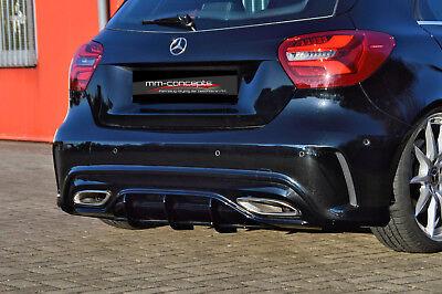 CUP Diffusor Ansatz für Mercedes A Klasse W176 AMG Line MOPF Facelift Heck