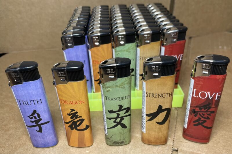 5 Pack Japanese DISPOSABLE CIGARETTE LIGHTERS REG Classic STYLE