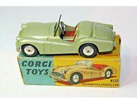 CORGI TOY REPRO BOX ONLY FOR NO 305 TRIUMPH TR3 SPORTS CAR