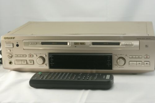 SONY MDS-W1 custumed Minidisc MD Deck Player Recorder with scratches