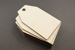 10x WOODEN KEY PENDANT GIFT TAGS BLANK CRAFT DECORATION PLYWOOD PENDANT
