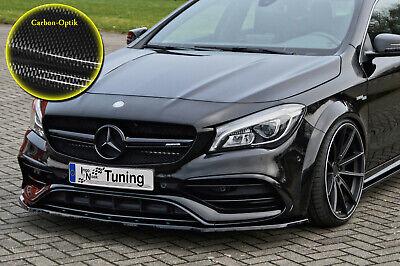 Spoilerschwert Frontspoiler ABS Mercedes CLA 45 AMG C117 ABE Carbon Optik