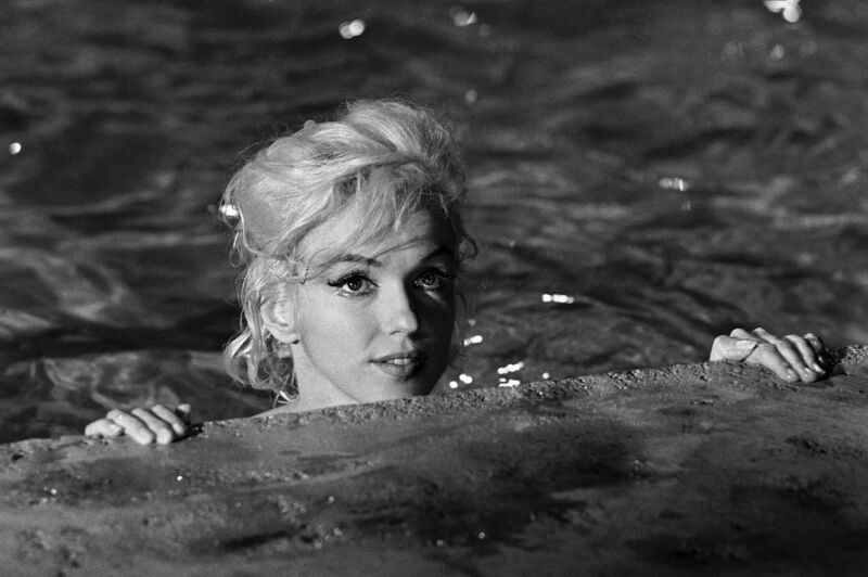Marilyn Monroe In The Pool Looking Out 8x10 Photo Print