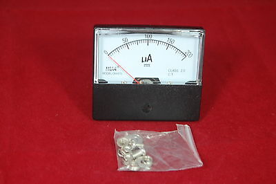 1pc Dc 0-200ua Analog Ammeter Panel Amp Current Meter 6070mm Directly Connect