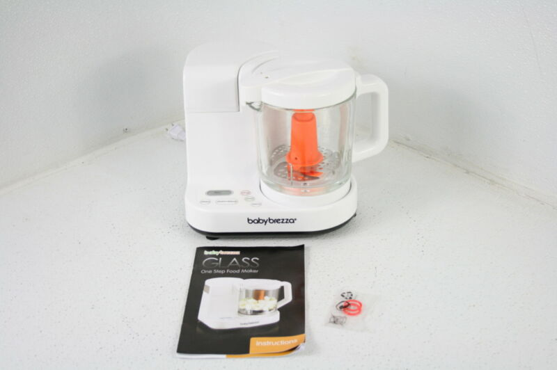 Baby Brezza Glass Baby Food Maker Cooker & Blender to Steam Puree Baby Food
