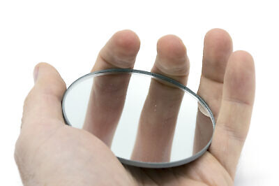 Round Concave Glass Mirror - 3 75mm Diameter - 100mm Focal Length - 2.8mm