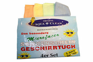 AQUA CLEAN Sonnenschein Mikrofaser Geschirrtücher 4er Set