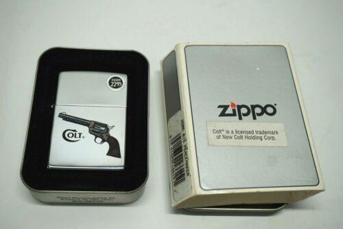 1998 Zippo Colt Peacemaker High Polish Chrome Lighter W/Box Red seal ~z