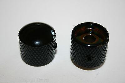 Ein Metall Knopf Potiknopf Domeknopf Knopf schwarz Madenschraube oben rund Tele