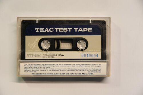 TEAC Calibration Test Tape MTT-256C 31.5-10kHz, New