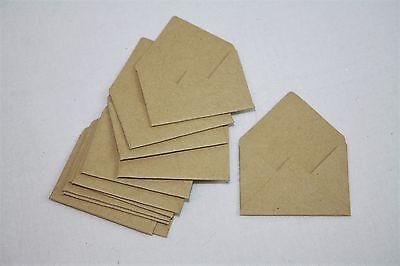 Mini Brown Paper Envelope x 12 Wedding Scrapbook Card Craft