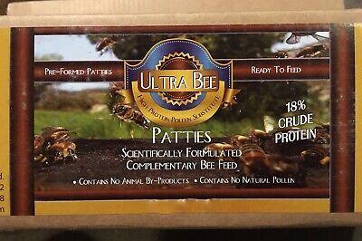 Ultra Bee 4 Lbs 18 Pollen Patty Honeybee Food Qty 4 X 1 Lb Pound Patties