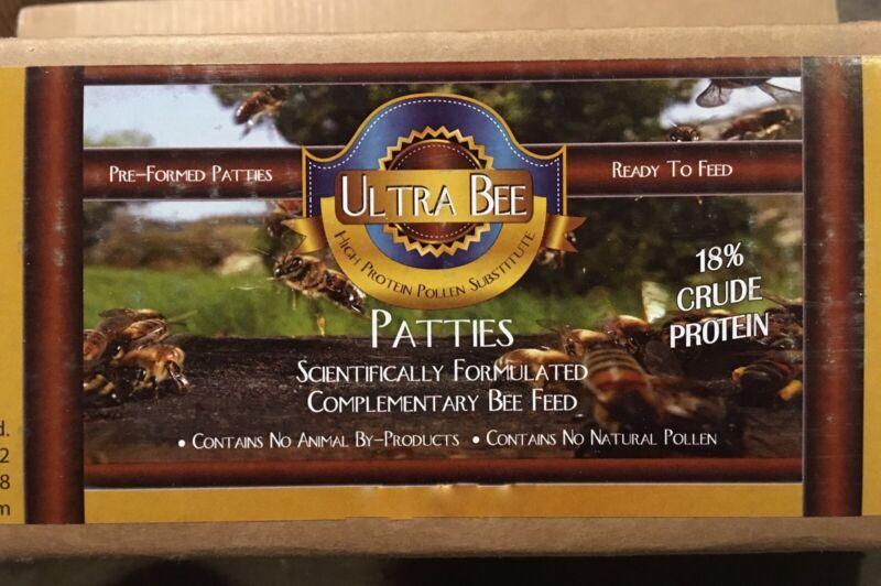 Ultra Bee Pollen Patty - 4 lbs / 18% Protein / Quantity of [4] x 1 lb Patties