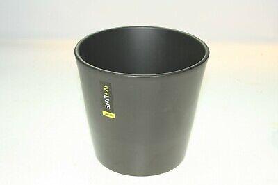 "IVYLINE BLACK Traditional Design Ceramic Garden Plant Flower Pot Ht 14cm / 5.5"""