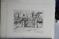 1943 - Tommaso Gnone - Incisione A Puntasecca - Il Cancello - Tiratura Limitata -  - ebay.it