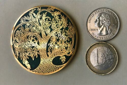 ☆☆ TOL geocoin Tree of Life Scavok VHTF Green on Gold Unactivated