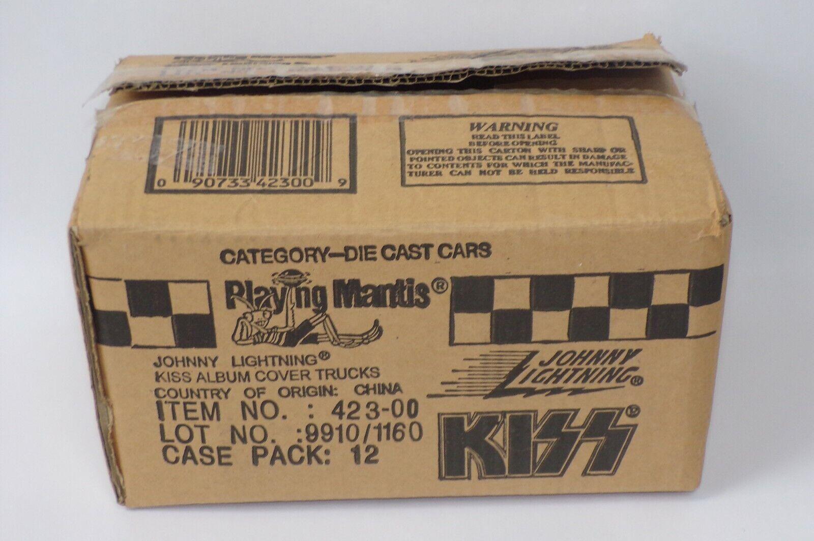 KISS Band Johnny Lightning Diecast Truck EMPTY Display Case Logo Shipping Box
