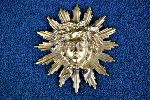 ANTIQUE VINTAGE AUTHENTIC EUROPEAN BRONZE - MEDUSA IN SUNBURST