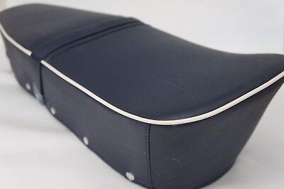 Lambretta Dual Standard Bench Seat S 1 2 3 GP SX GP Li TV  Blue with White Trim