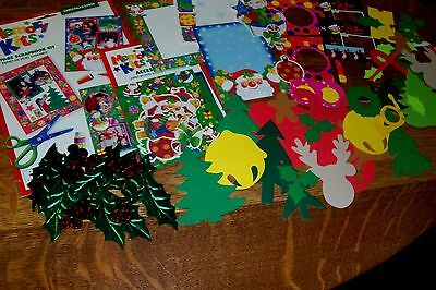 Christmas Page Kit - CHRISTMAS CHEER 8 PAGE SCRAPBOOK & ACCESSORY KIT- DIE CUTS - PHOTO FRAMES