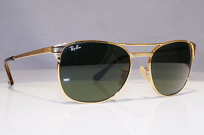 RAY-BAN Mens Designer Sunglasses Gold Square SIGNET RB 3429 001 24469