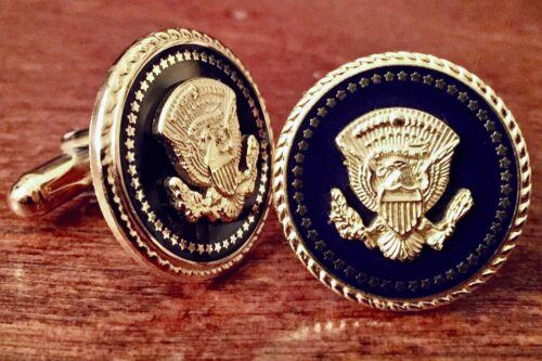 Genuine President Bill Clinton Cobalt Presidential Seal Cufflinks - White House