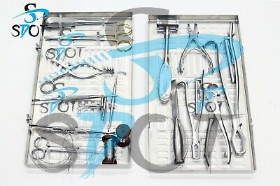 Veterinary Orthopedic Set Contains 19 Instruments A Cleaningstorage Cassette