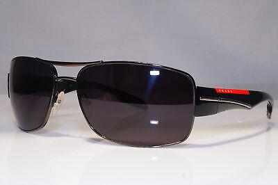 PRADA Mens Designer Sunglasses Black Rectangle SPS 53N 5AV-5W1 22638
