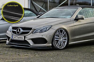 Schwert Frontspoiler ABS Mercedes E-Klasse AMG C207 A207 ABE Carbon Optik