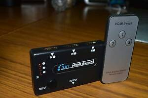 HDMI Switcher 3 Input 1 OUT  with Remote Control SELF POWERED South Bunbury Bunbury Area Preview