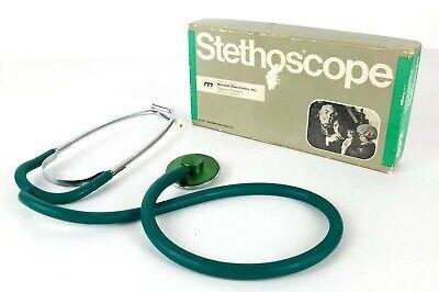 Rare Vtg Marshall Electronics Lightweight Nurses Green Stethoscope 492 With Box