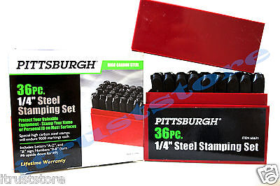14 Steel Stamping Set 36 Piece Number Letter Emboss Punch Marking