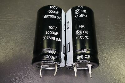 Lot Of 2 Eco-s2aa102aa Panasonic Capacitor Electrolytic 1000uf 100v Radial