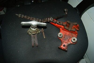 Ridgid Bc 210 Chain Vise 18 To 2-12 And Ridgid 457 45 Degree Flaring Tool