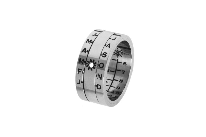 Aquitaine Sundial Ring - Wear a Sundial on Your Finger - Authentic Retroworks